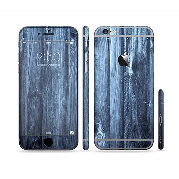 The Blue Washed WoodGrain Sectioned Skin Series for the Apple iPhone 6/6s Plus