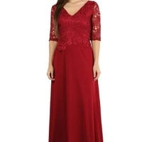 Mother of the Bride Long Formal Evening Dress