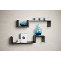 "Danya B. ""S"" Wall Mount Shelf (Set of 2)"