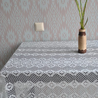 Antique Lace Cloth Old Lace Tablecloth Wonderful Quaker Style Lace Cloth Rustic style Cottage chic style