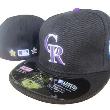 Colorado Rockies Cool Base 59FIFTY MLB Cap All-Star Patch Black