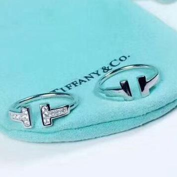 Tiffany & Co Fashion New Diamond Opening Personality Ring Women