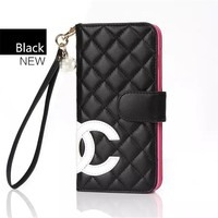 Chanel Fashion PU iPhone Phone Cover Case For  iphone 8 8plus iPhone6 6s 6plus 6s-plus iPhone 7 7plus