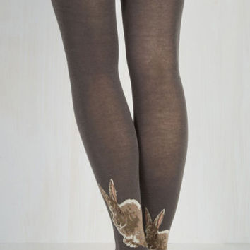 Vintage Inspired Not a Hare Out of Place Tights Size OS by ModCloth