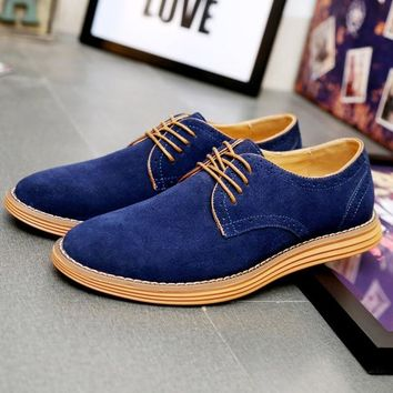 Casual Business Breathable Suede Flats Shoes