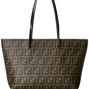 Fendi Zucca Pattern 8bh198 00g87/f0qt2 Leather Tote Bag