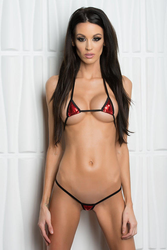 Solid Red Foil Mini Micro Euro Style From Bitsy S Bikinis