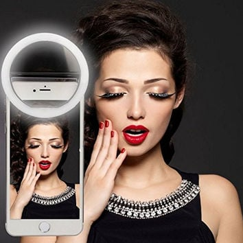 Portable Mini Phone Selfie LED Ring Light Spotlight 36 LED Flash Light Pocket Clip For iPhone 7 6 6s 5 For Samsung Smartphone