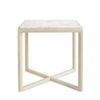 Krusin Side Table in Coated Arabescato Marble