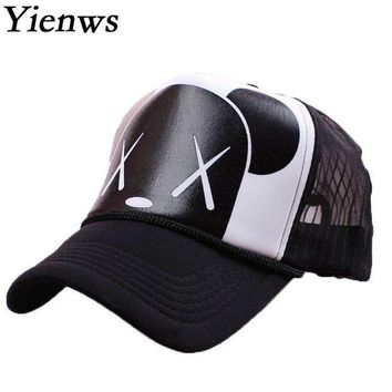 CREYCI7 Yienws Women Baseball Cap Summer Cap Snapback Gravity Falls Bone Brim Curved Kawaii Bear Mesh Korean Pop YH221