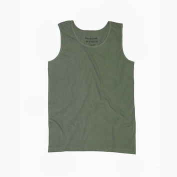 Pigment Dyed Basic Tank Top in Hemp