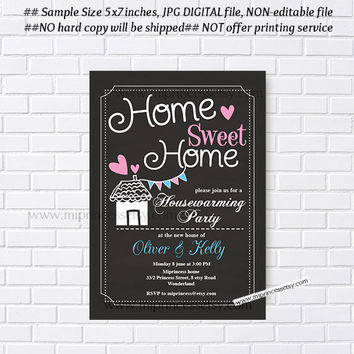 housewarming invitation, party invites, New house home sweet home Invitation Card | We have moved Invitation Card Design - card 168