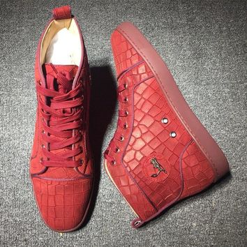 Cl Christian Louboutin Suede Style #2231 Sneakers Fashion Shoes