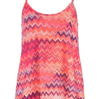 multicolor chevron stripe swing tank