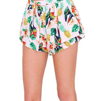 Tropical Sweetheart Shorts Pink