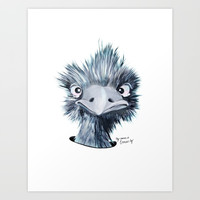My name is EMU-ly Art Print by Emilia Jesenska