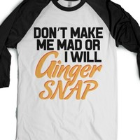 Ginger Snap-Unisex White/Black T-Shirt