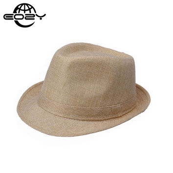 2016 Wide Brim Panama Fedora Hats for Women Men Jazz Caps Unisex Top Beach Visor Hat Straw Cap Brief Style Free Shipping DWT