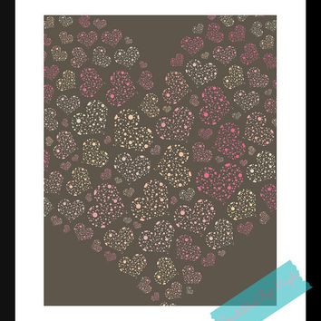 Heart Art Print Home Decor 8 x 10 Wall Art Beautiful Gift Printable Instant Download