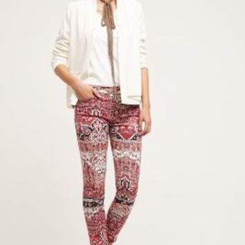 7 For All Mankind Ankle Skinny Jeans in Olympia Mosaic Size: