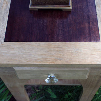 End Table / Night Stand Nature's Cathedral by natureinspiredcrafts