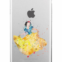 Snow White Disney Clear Soft iPhone Case 5,5s,SE,6,6S,6+,7,7+