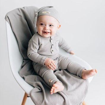 Organic Thermal Romper- Kids
