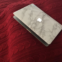 Carrara Marble MacBook Laptop Skin - Gorgeous Italian Marble Design [FREE U.S. Shipping!]