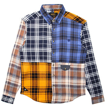 10 Deep - Patchwork L/S Flannel Button-Up Shirt (Multi)