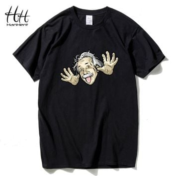 Comical Albert Einstein T shirt Men Put His Tongue Out Funny Cotton Top tees Short sleeve The Big Bang Theory T-shirt