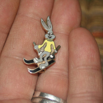Vintage Bugs Bunny Pin, Collectible Pins