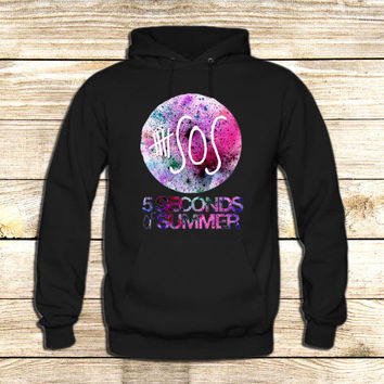 5 seconds of Summer Galaxy Logo on Hoodie