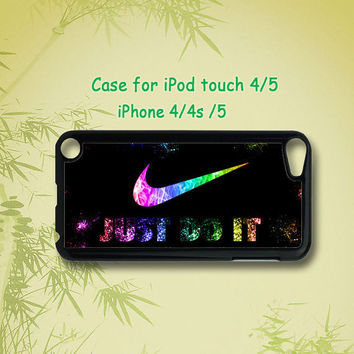JUST DO IT - ipod case ,ipod touch case , iphone 4 / 5 case ,ipod 4 case ,ipod 5 case  in black or white