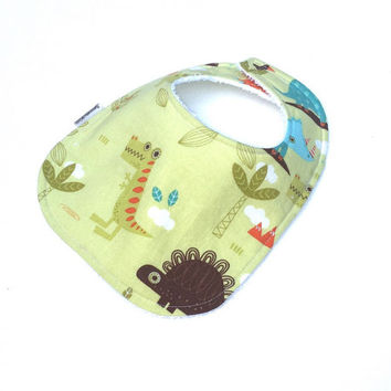 Boy Bibs - Boys Infant Bibs  - Boy baby Bibs - Dinosaur Bib - Boys Green Bib - Toddler Boy Bib - Boys Baby Gift - Baby Boy Bib