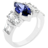 Tanzanite Purple Elegant Cocktail Ring, size : 07