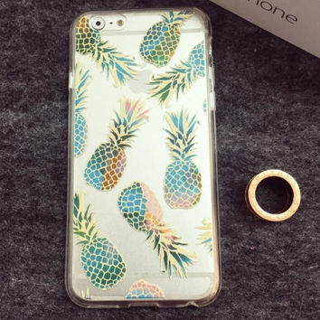 Transparent Pineapple iPhone 5se 5s 6 6s Plus Case Cover gift