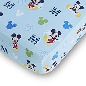 Disney Baby Mickey Mouse Fitted Crib Sheet