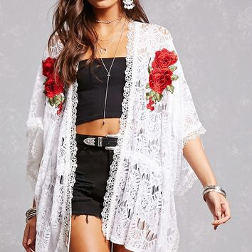 Lace Embroidered Cardigan