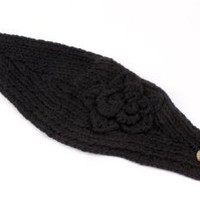 Pop Women's Headband Neck/Ear Warmer Hand made Black 812HB