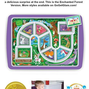 Enchanted Forest Kids Adventure Dinner Plate