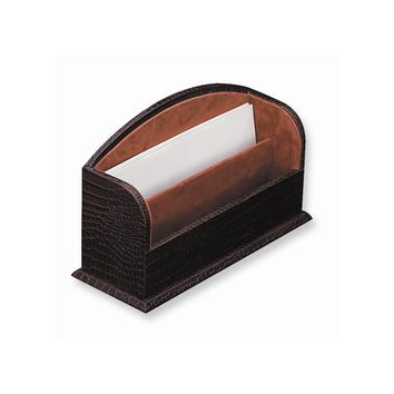 Brown Leather Letter Rack