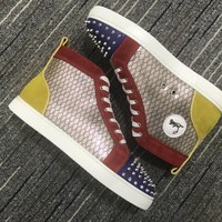 Christian Louboutin Cl Lou Spikes Orlato Sneakers Reference 4 - Best Online Sale