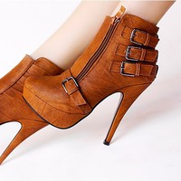 Botines Tacon marron / Ankle Boots brown LS170