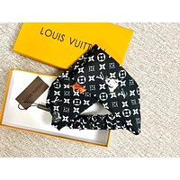 LV tide brand female cat print cross hair band Black