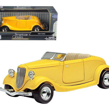 1934 Ford Coupe Yellow 1-24 Diecast Car Model by Motormax