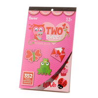 ConsumerCrafts Product Two Sweet Valentine Sticker Book with 352 Valentine Stickers