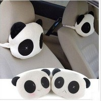 Soft panda car headrest neck pillow cushion  Jushi decoration car supplies JAQ02