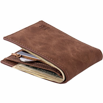 with Coin Bag zipper new  men wallets mens wallet small money purses Wallets  New Design Dollar Price Top  Men Wallet