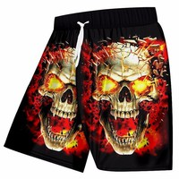 Beach Shorts Men Swimwear Cool Print Broken Skull 3d Swimming Trunks