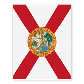 Patriotic temporary tattoos Flag of Florida